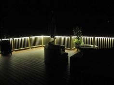 rope lights on the deck