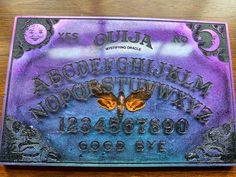 Excited to share this item from my shop: Purple Deaths Head Resin Ouija board #altartools #etsy #spookygiftideas