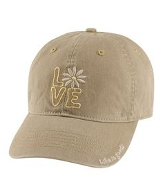 Take a look at this Mocha Love Chill Baseball Cap - Women by Life is good® on #zulily today!