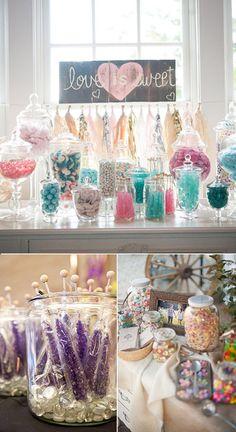 Candy bar para bodas y fiestas
