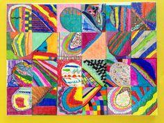 2nd grade collaborative hearts. Art Teacher: April Campagnoli Barlett