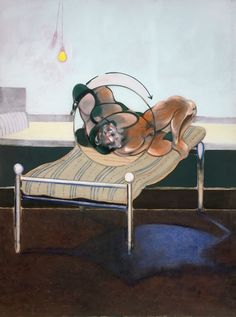Three Studies of Figures on Beds, 1972 (left panel) by Francis Bacon © The Estate of Francis Bacon. All rights reserved, DACS/Artimage 2017. Photo: Hugo Maertens