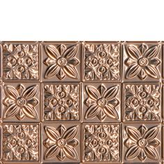 Decorative Ceiling Tiles, Inc. Store - Flower Power - Copper Backsplash Tile -