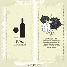 plantillas de carta de vinos descargar vectores gratis