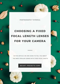 Photography Tutorials - CHOOSING A FIXED FOCAL LENGTH LENSES FOR YOUR CAMERA #photography #photographytutorial #photographytips #digitalcamera