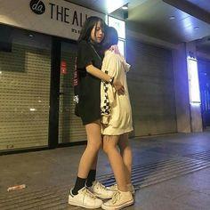 Korean Couple, Korean Girl, Asian Girl, Couple Ulzzang, Ulzzang Girl, Gay Aesthetic, Couple Aesthetic, Korean Best Friends, Girlfriend Goals