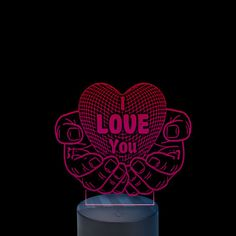 Acrylic lamp Love All The Colors, Different Colors, Angel, Led, Angels