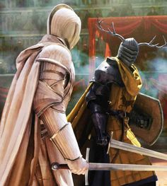 Lord Commander Duncan the Tall fighting Lord Lyonel Baratheon in trial by combat as depicted by Chase Stone in The World of Ice and Fire.