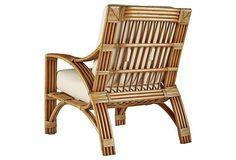 Alexa Rattan Lounge Chair, Natural   Resort at Home   One Kings Lane