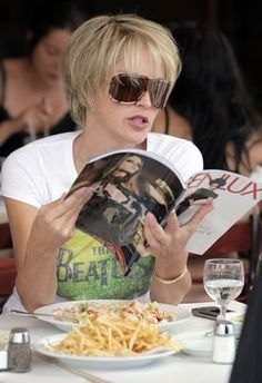 Reading over lunch - Sharon Stone