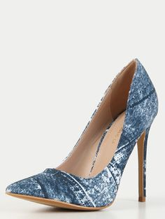 Online shopping for Pointy Toe Jean Stiletto Pumps BLUE from a great selection of women's fashion clothing & more at MakeMeChic.COM.