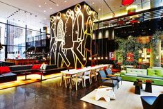 citizenM - hotel of the future 1 min check in/out, free wifi and movies, 24 hour food and drink