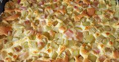 Rhabarber-Vanille-Kuchen vom Blech, ein Rezept der Kategorie Backen süß. Mehr Thermomix ® Rezepte auf www.rezeptwelt.de