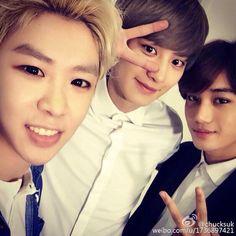 [UPDATE]150422 chucksuk Weibo update with Chanyeol & Kai  -iheartkris