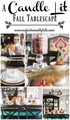 A Candle Lit Fall Tablescape www.refashionablylate.com