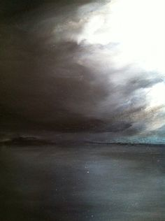 "Artists Open Houses 2015-art@The Claremont ""untitled"" seascape (oil on canvas) by Zoe Bailey"