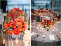 Grey and Orange Modern Wedding in Washington DC....one of my favorites:)
