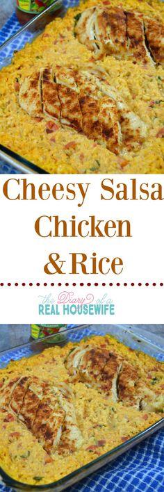 Cheesy Salsa Chicken and Rice. Dinner Recipe