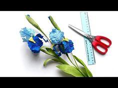 DIY How to make Iris flower by crepe paper Làm hoa diên vỹ giấy nhún