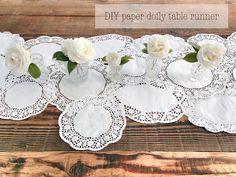 Paper Doily Table Runner