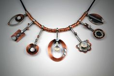Copper and sterling silver necklace | Flickr - Photo Sharing!