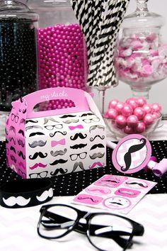 Pink Mustache Centerpiece Mustache centerpieces Party stores
