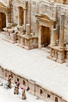 Theatre in Jerash Ruins - Petra - Jordan Ancient Ruins, Ancient Rome, Ancient History, Solomons Temple, Jerash, Jordan Travel, Wadi Rum, Archaeology, Wonders Of The World
