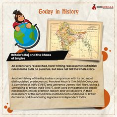Today in History An extensively researched, hard-hitting reassessment of British rule in India pulls no punches. #todayhistory #didyouknow #didyouknowthat #edugorilla #education #learning #students #teachers #success #inspiration #motivation #knowledge #WorldWar #WorldWar1 Today History, Pull No Punches, Online Tests, Study Materials, Britain, Students, Knowledge, Success, India