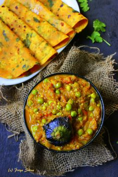 Baingan Bharta - delicious curry made with char grilled aubergine and flavors from mild spices and mustard oil...