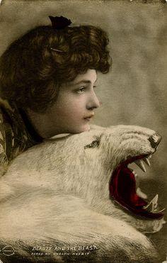 Evelyn Nesbit, vintage postcard