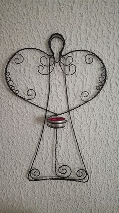 Wire Crafts, Diy And Crafts, Christmas Crafts, Arts And Crafts, Christmas Decorations, Wire Ornaments, Angel Ornaments, Craft Stalls, Christmas Templates