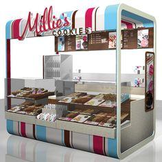 Millies Cookies retail kiosk concept
