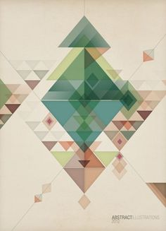 triangular...love the colors