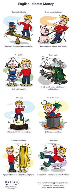 Learning English is fun! Here are some idioms about money. #businessenglish http://www.uniquelanguages.com