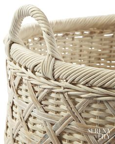 Two sizes, two shapes. Bamboo caning and a whitewashed finish prove that even conquering clutter can be done with plenty of style. Picnic Foods, Picnic Recipes, Picnic Ideas, Bamboo Canes, Romantic Picnics, No Cook Desserts, Beach Picnic, Storage Baskets, Clutter