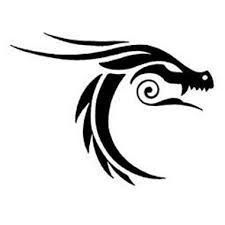 Dragon Tattoo is one of the most popular mystical tattoos. Like most other mythological tattoos dragon tattoos are perceived in different ways by different cultures around the world. Tatoo Henna, 1 Tattoo, Tatoo Art, Body Art Tattoos, Star Tattoos, Tattoos Skull, Tattoo Flash, Tribal Dragon Tattoos, Celtic Dragon Tattoos