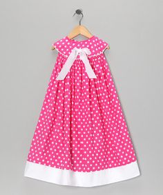 Take a look at this Pink Polka Dot Yoke Dress - Infant, Toddler & Girls by Blow-Out on #zulily today!