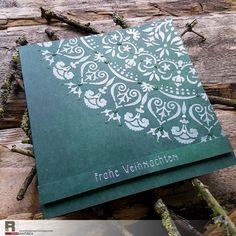Ingredients:  Stencil mandala  stamp  paste  design paper from Alexandra Renke