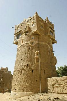 Torre de tierra, Yemen