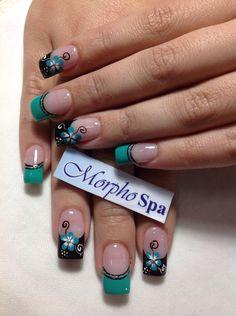 Hermosas mariposas ua en 2019 nails nails for kids y nail ar Diy Nail Designs, Simple Nail Designs, Acrylic Nail Designs, Spring Nail Art, Spring Nails, Manicure And Pedicure, Gel Nails, Cute Nails, Pretty Nails
