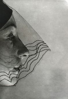 ☫ A Veiled Tale ☫ wedding, artistic and couture veil inspiration - Veiled face, 1932  Erwin Blumenfeld