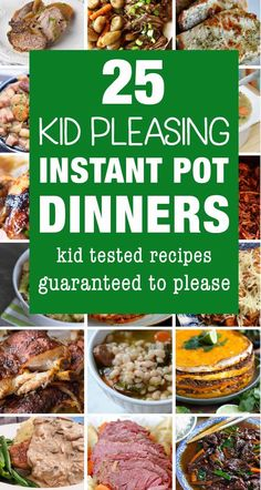 Kid friendly Instant Pot recipes are a must in our house. I love using my electric pressure cooker to make dinner because it makes it so much easy to cook up some family friendly dinners on busy nights. Check out these delicious kid friendly Instant Pot d Best Instant Pot Recipe, Instant Pot Dinner Recipes, Instant Recipes, Kid Recipes Dinner, Instant Pot Meals, Convert Recipe To Instant Pot, Dinner Ideas, Slow Cooker Recipes, Cooking Recipes