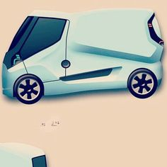 Remember the sketch of a couple of days ago? #concept #company #car by @conceptr