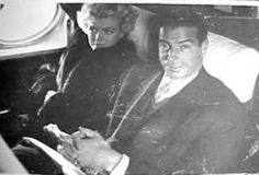 Marilyn and Joe on a plane during their trip to Japan