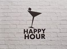 Vinyl Wall Decal Happy Hour Sign by Msapple on Etsy