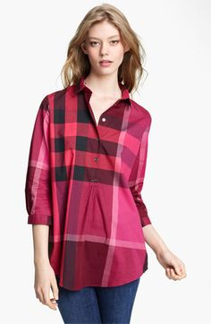 Burberry Brit Woven Check Tunic available at #Nordstrom    Loves it!  Winter get here fast!!!
