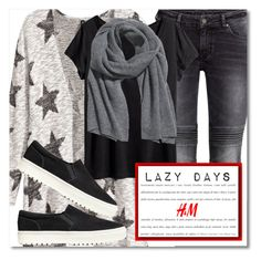 """""""Lazy Days"""" by chloe ❤ liked on Polyvore featuring мода, H&M, LazyDay, HM и lazy"""