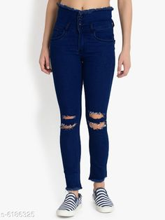 Jeans Fashionble Women's Denim  Jenas  Fabric: Denim Multipack: 1 Sizes: XXL (Waist Size: 34 in Length Size: 39 in) M (Waist Size: 28 in Length Size: 39 in) L (Waist Size: 30 in Length Size: 39 in) XL (Waist Size: 32 in Length Size: 39 in) Country of Origin: India Sizes Available: 28, 30, 32, 34   Catalog Rating: ★3.9 (486)  Catalog Name: Pretty Fashionable Women Jeans CatalogID_944409 C79-SC1032 Code: 994-6186325-5721