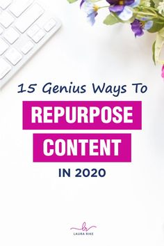 Are you looking to save time with your social media marketing? Have you started repurposing your content? When you repurpose content into blog or social media posts, or even YouTube videos and webinars, it allows you to save time. Click through to learn about 15 ways to repurpose content. #repurposecontent #repurposingcontent #savetime #contentcreation #repurposecontentsocialmedia Content Marketing Strategy, Small Business Marketing, Internet Marketing, Social Media Marketing, Digital Marketing, Social Media Updates, Social Media Content, Social Media Tips, Creating A Blog