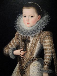 Infanta Isabella daughter of King Philip of Spain oil on canvas, c. 1569 Spanish attributed to Alonso Sanchez Coello (1531/32 - 1588)
